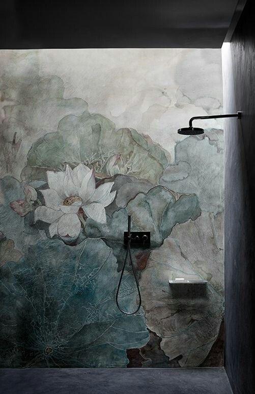 Christian Benini Unfolds The Secrets Of Wall Decò: Bathroom Interior