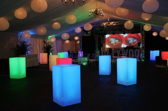 LED highboy and lanterns