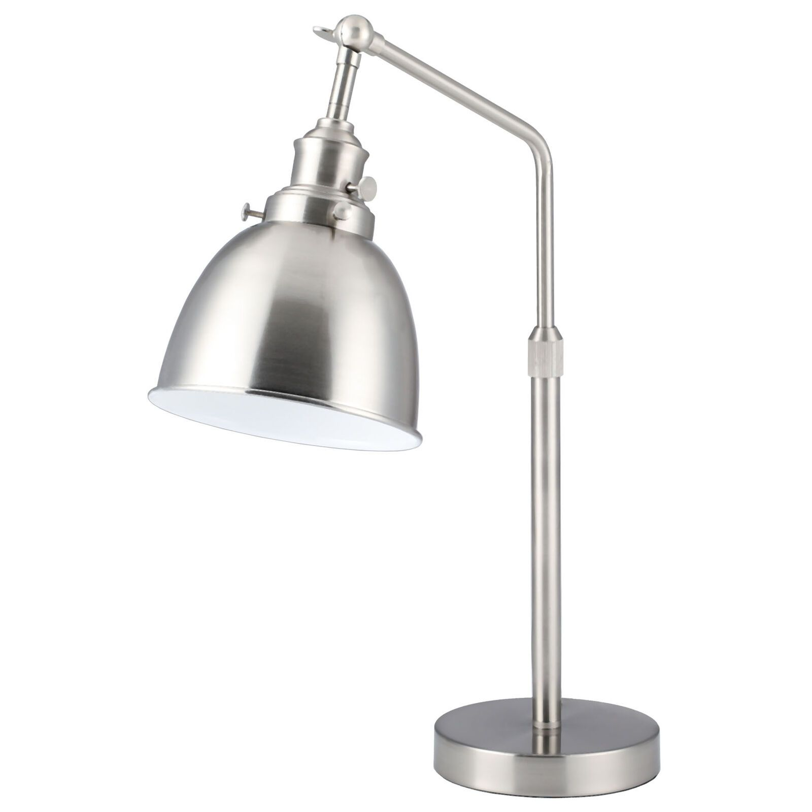 24 Silver Desk Lamp Industrial Modern Task Lamp Reading