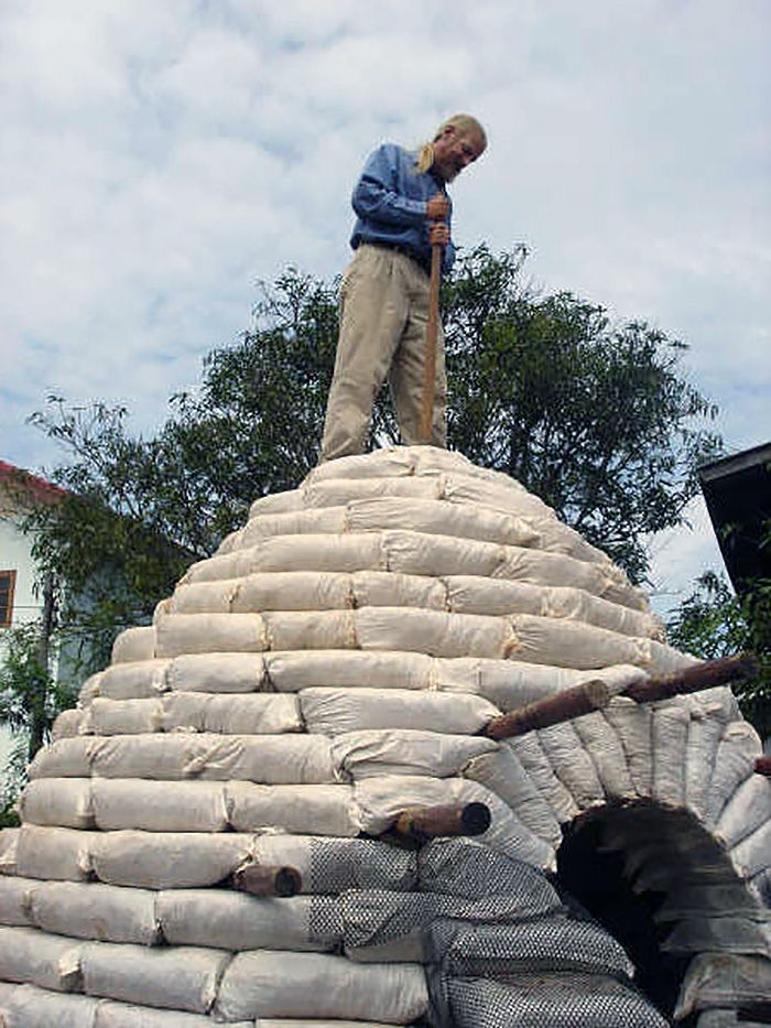 How To Build An Earthbag Dome For 300 Dome House