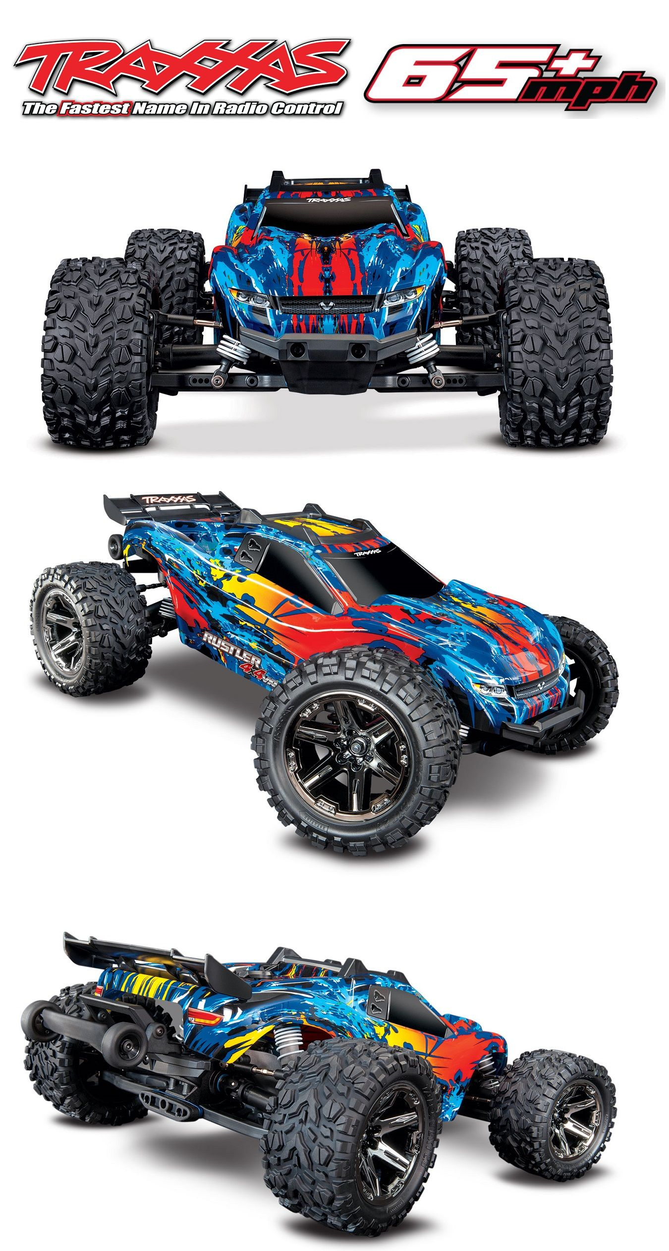 All New Traxxas Rustler 4x4 Vxl Rc Stadium Truck Coming Soon Traxxas Rustler Traxxas Rc Cars Traxxas