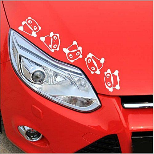 Cute panda rolling vinyl bumper sticker trunk window car http