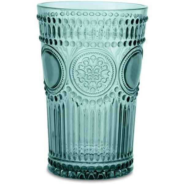 Baci Arabesque Tumbler ($17) ❤ liked on Polyvore featuring home, kitchen & dining, drinkware, acrylic drinkware and acrylic tumblers