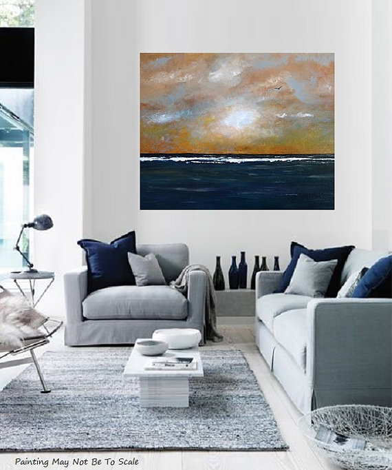 image of living room contemporary abstract original acrylic canvas 16394
