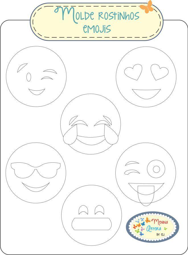 emojis | Linduras en Fieltro | Pinterest | Hut-Muster, Deko nähen ...