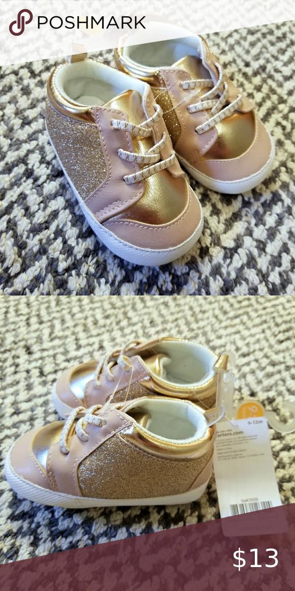 Carter's Rose Gold Glitter Shoe Size 9