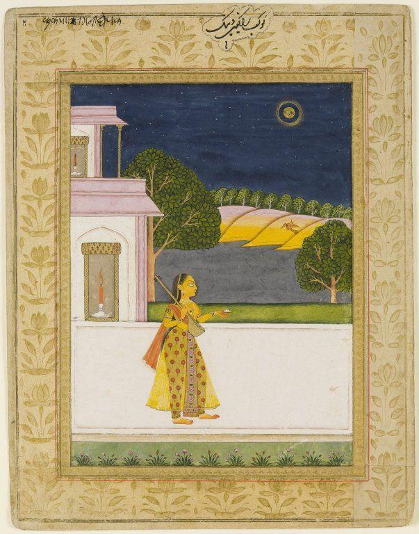 Detail of Ragamala miniature entitled Kakubha ragini of Dipaka. Gouache, Hyderabad, Mid-Late 18th Century, University of Edinburgh, Or.Ms 114, http://images.is.ed.ac.uk/luna/servlet/detail/UoEsha~4~4~56811~102995
