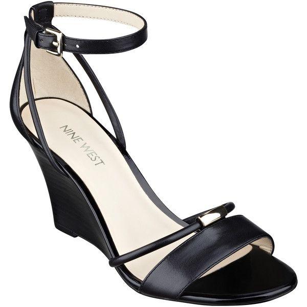 Nine West Fastness Wedge Sandals ($50) ❤ liked on Polyvore