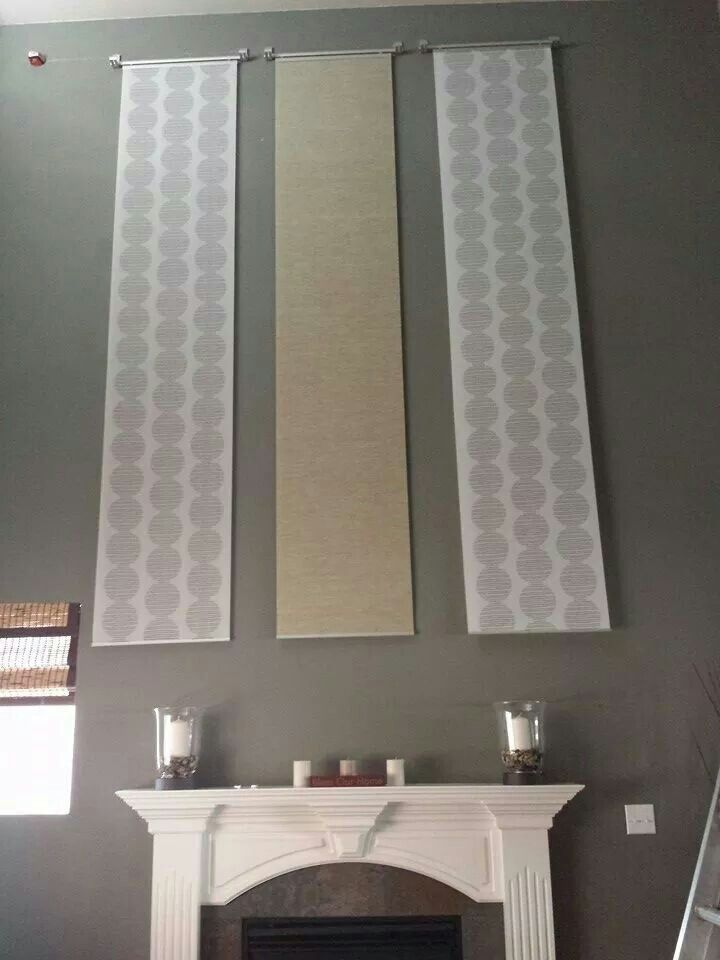 Behr pierre paint. Ikea hack..use curtains as wall decor. 20 foot ...