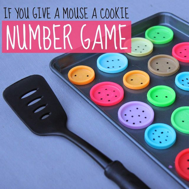 If You Give A Mouse A Cookie Number Game for Preschoolers | Toddler Approved! | Bloglovin'