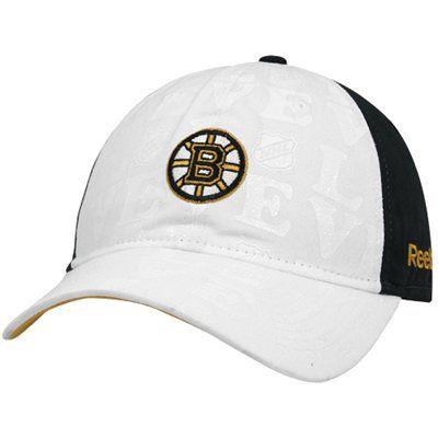 Boston Bruins White Womens Slouch Hat
