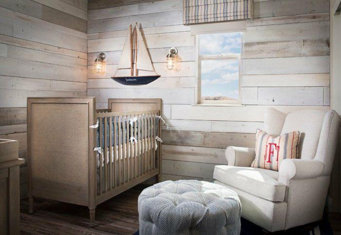 chambre bébé lambrisée Déco murale Pinterest Murals