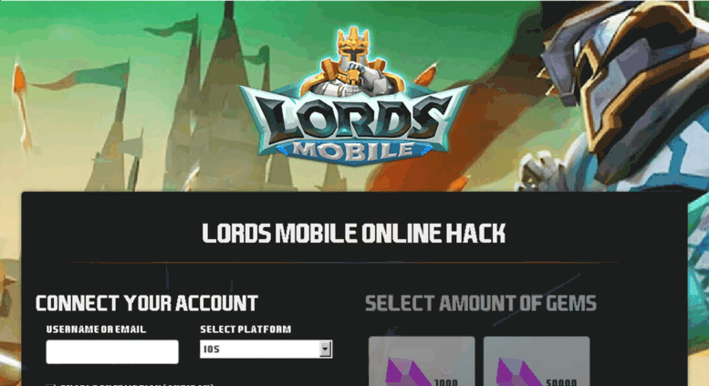 APK Download Lords Mobile Hack Tool- Get 9000000 Free Gems