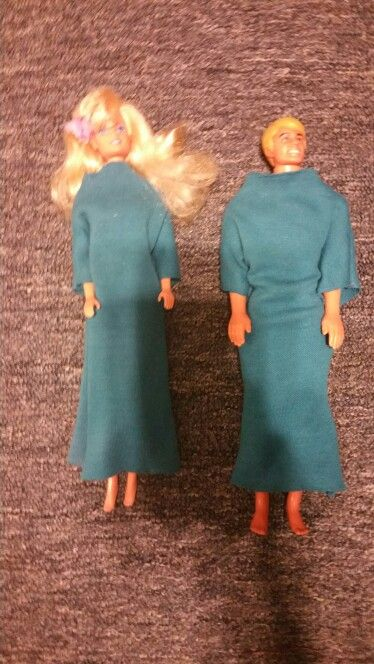 U know ur Pentecostal when Barbie & Ken wear baptismal robes!