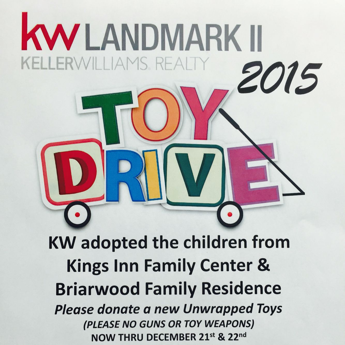 Toys for kids logo  Hey guys Our Office is having a toy drive for kids from the Kings