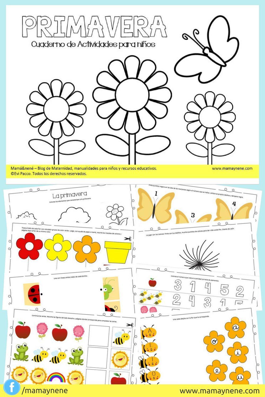 Cuaderno De Actividades Para Ninos Primavera Mamaynene Blog De