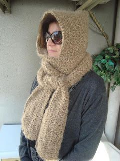 Kap met sjaal in een