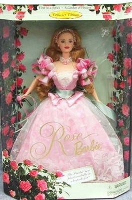 Free shipping Victorian Tea Barbie Avon 2002 White Rose Gown