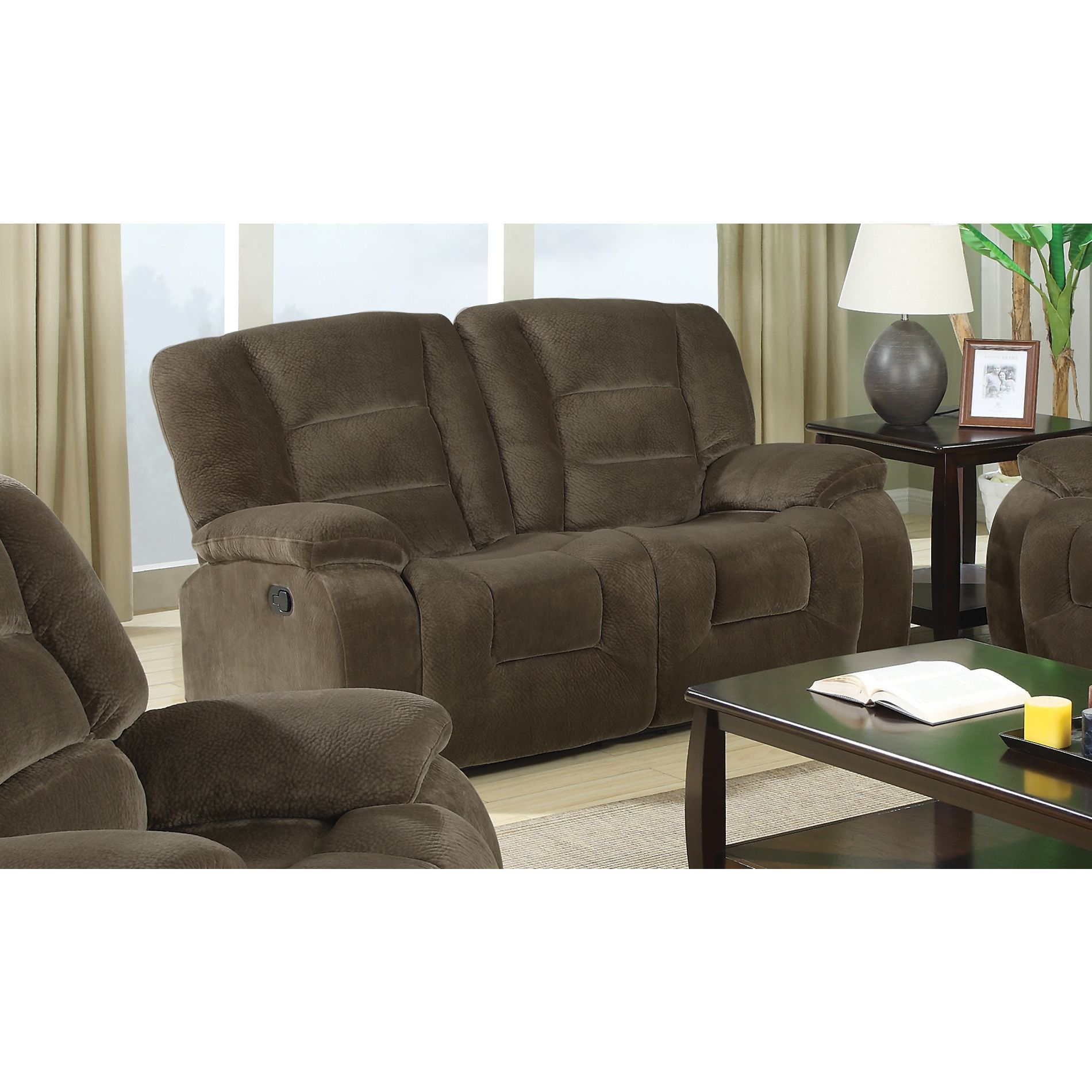 loveseat sofa center set for with furniture console of attachment glamour flexsteel reclining minimalist