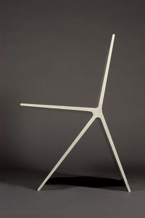 Minimalist Design Concrete Chair Profile