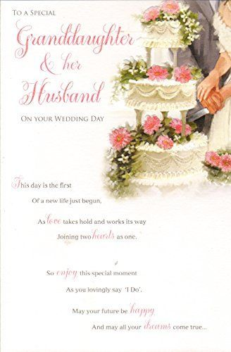 SISTER /& HUSBAND WEDDING DAY CARD ~ JUST MARRIED DESIGN  QUALITY CARD /& VERSE