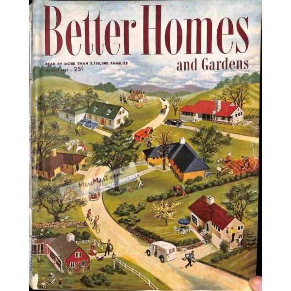 Bhg Magazine Covers: Cover Print Of Better Homes And Gardens, March 1947 In