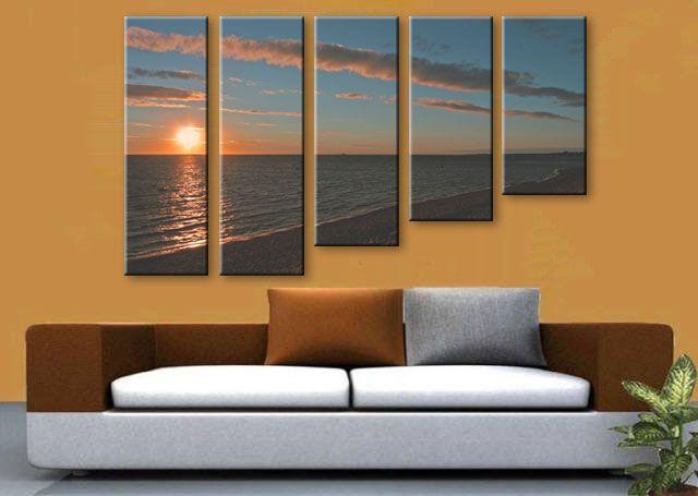 5 Panels Canvas Wall Art Wall Decoration Ideas Photo Sharing