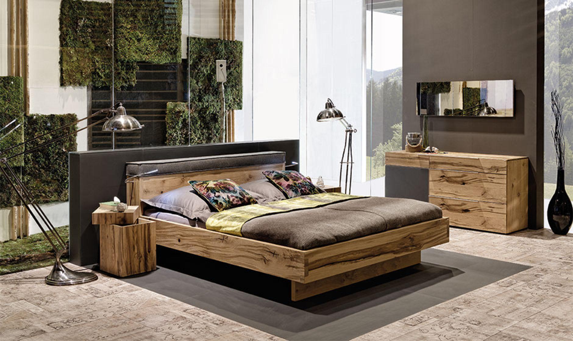 v-pur – schlafzimmer-naturholzmöbel in eiche altholz, Schlafzimmer entwurf