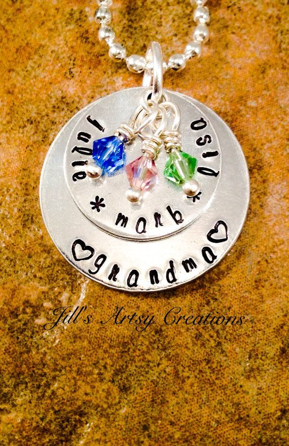 Grandma Necklace Mother Necklace Nana by JillsArtsyCreations