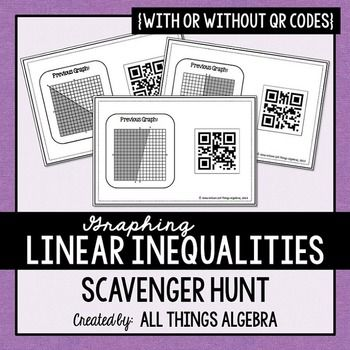 Linear Inequalities Scavenger Hunt Standard Form Worksheets And