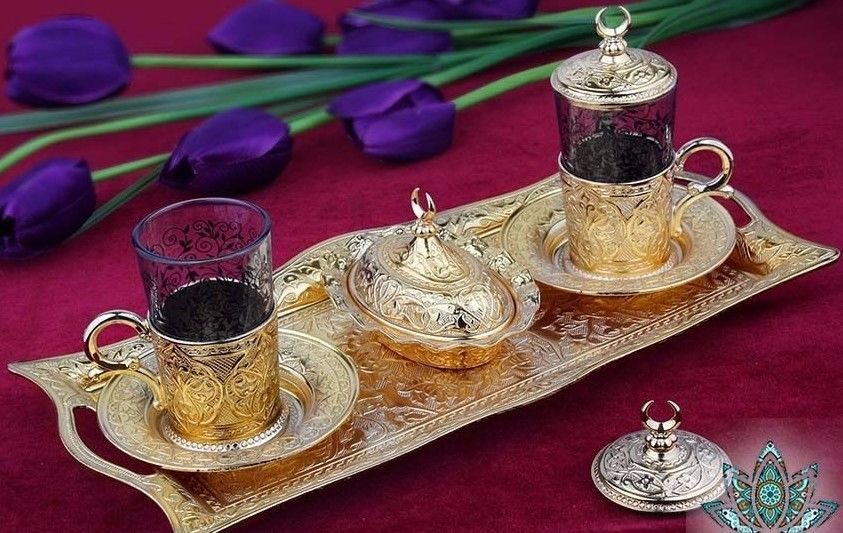 Kitchen, Dining & Bar Authentic Handmade Turkish Tea Serving