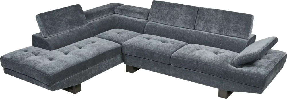 Northside Ocean 2 Pc Sectional Rooms To Go Sectional Lumbar Support Cushion Living Room Plan