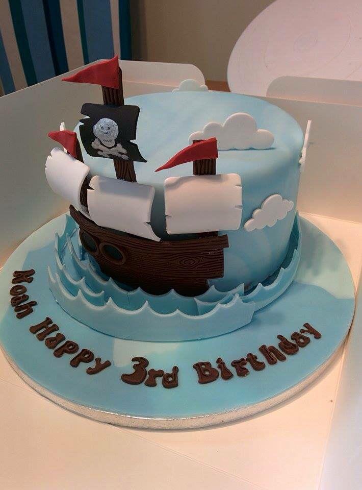 Pirate ship cake 3d effect