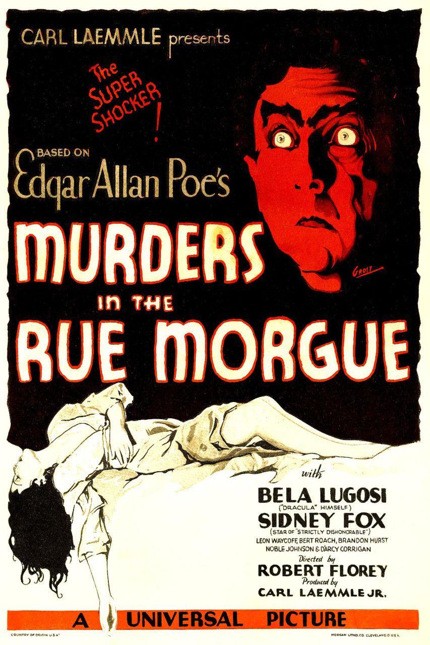 Movie Poster Bela Lugosi Murders in the Rue Morgue 1932