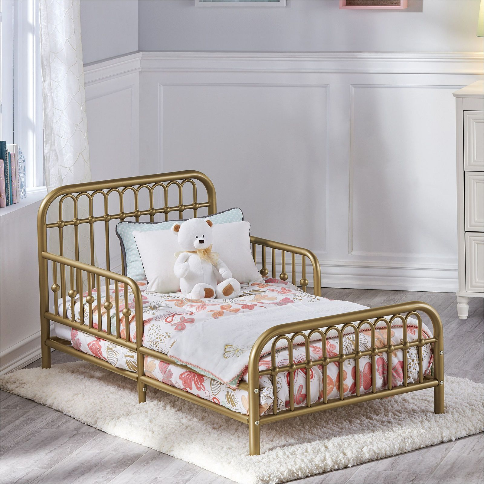 Little Seeds Piper Metal Toddler Bed Gold Toddler Bed Frame