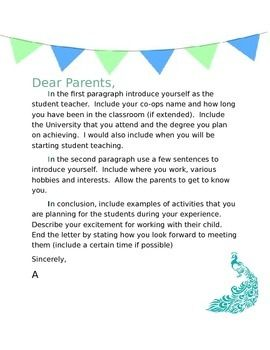 Student Teacher Welcome Template Letter To Teacher Student