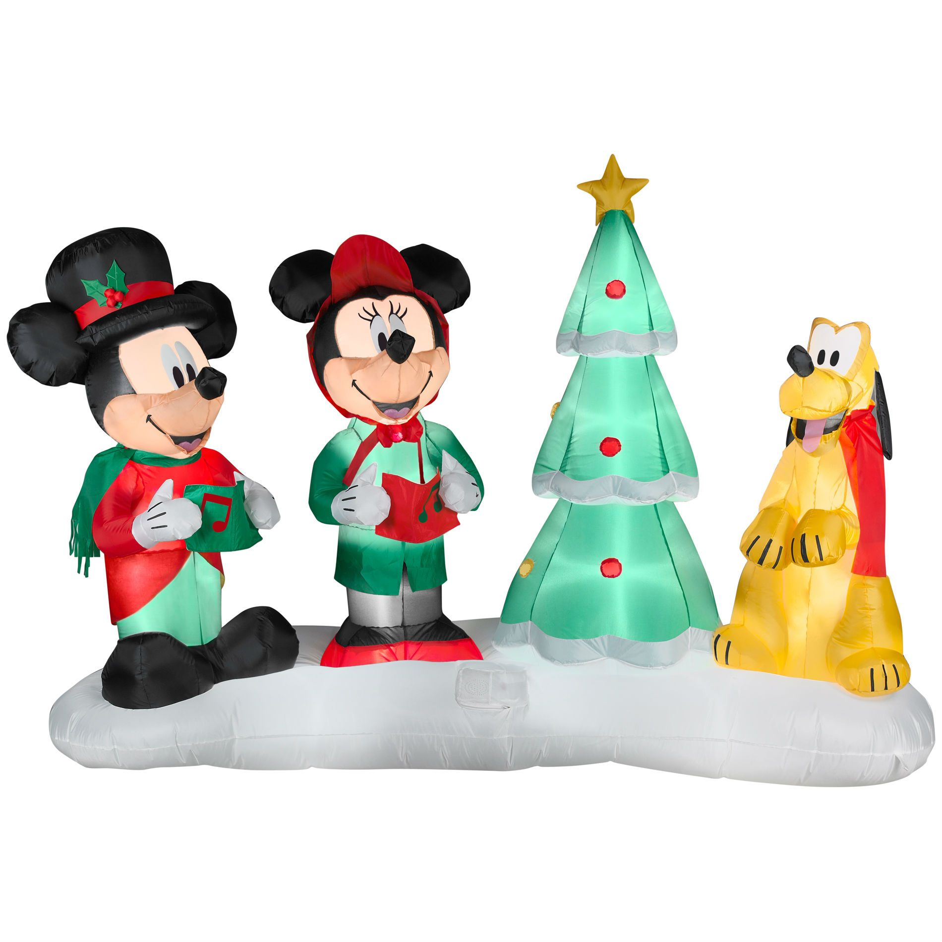 mickey mouse inflatable christmas decoration holiday cheer from sears