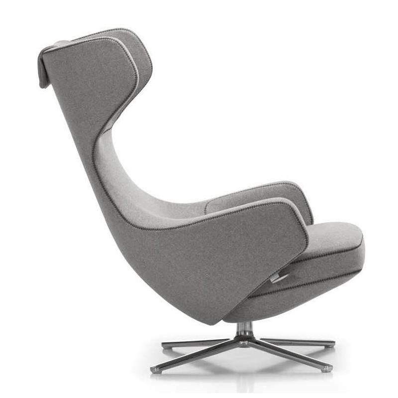 Grand Repos Citterio Fauteuil H115cm Vitra Repos Chaise Chaise De Bureau Design Fauteuil