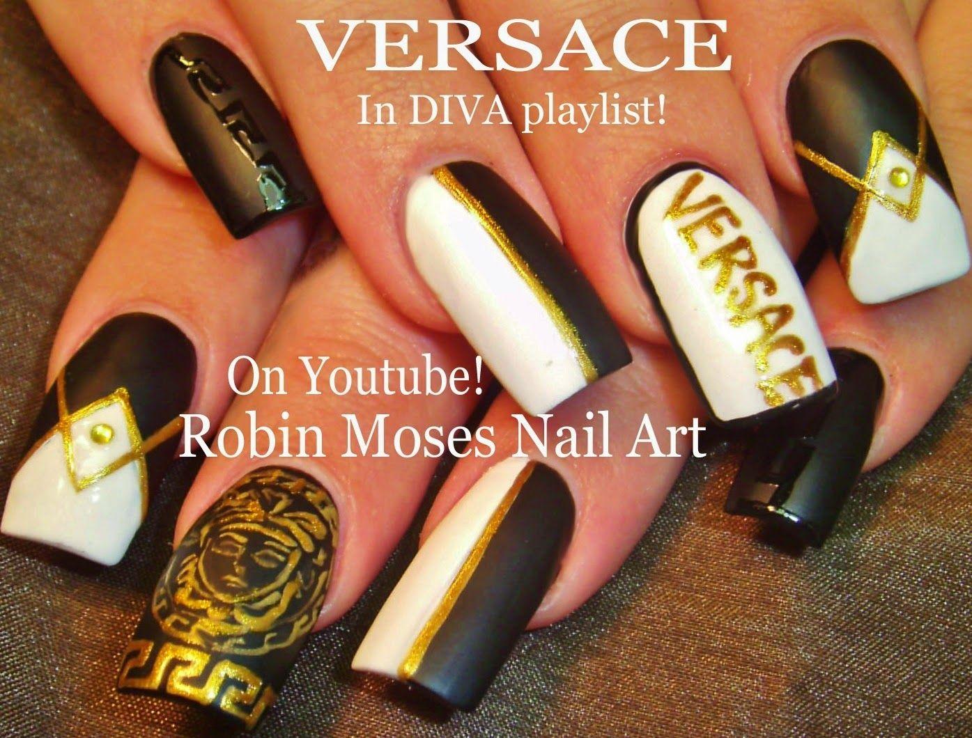 versace nails\