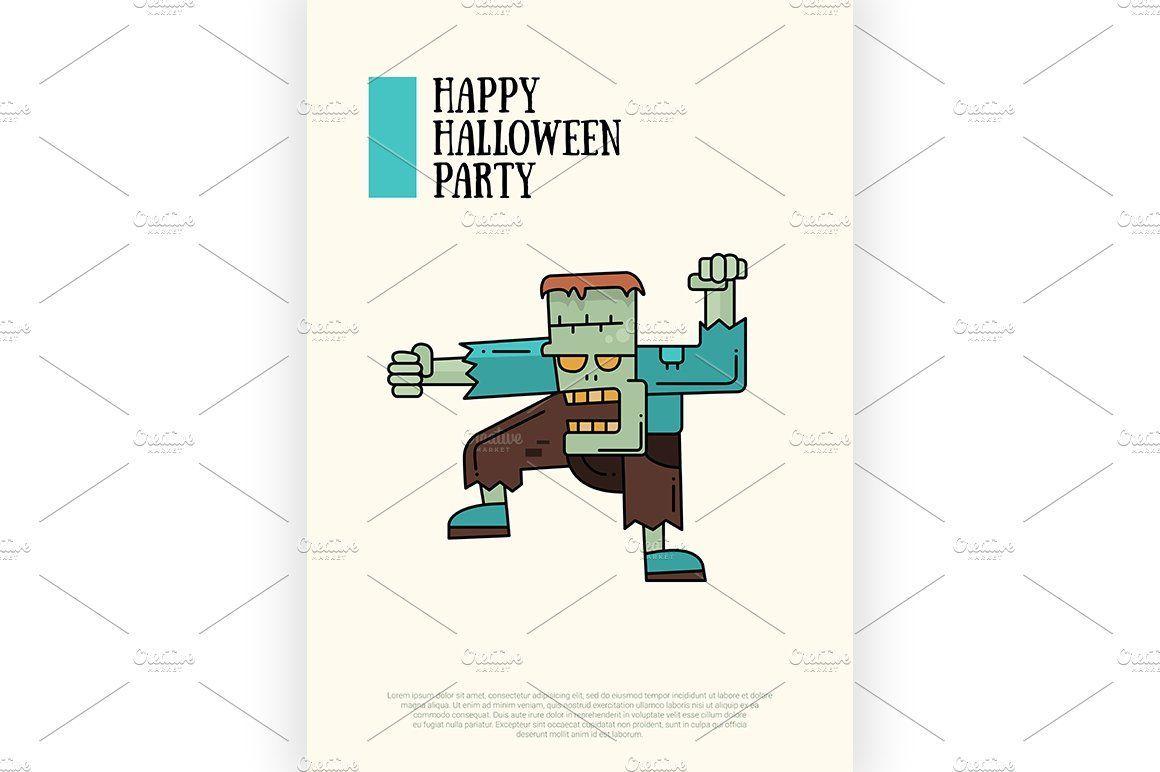 4 Halloween Posters , #SPONSORED, #vector#poster#modern#includes #Ad #halloween poster modern