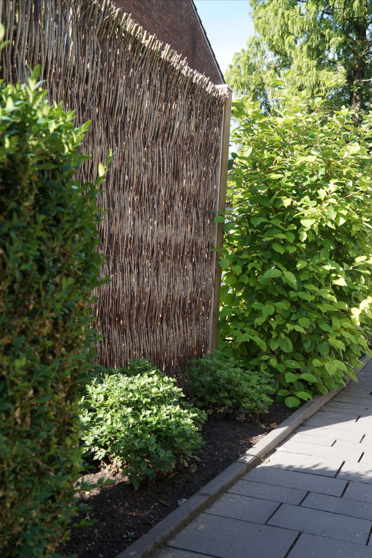 Sichtschutz Weidenelement Naturlich Holz Gartenbau Galabau Weiden