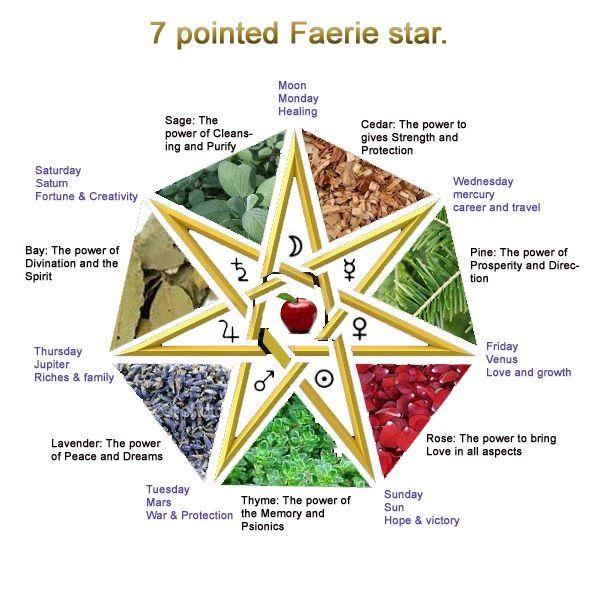 Seven Pointed Star Septagram Or Fairy Star Popular Pagan Symbol