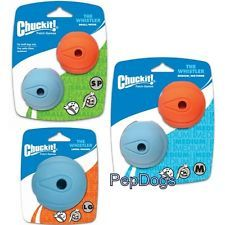 Chuckit Whistler Ball Durable Rubber Fetch Dog Toy Fits Launcher