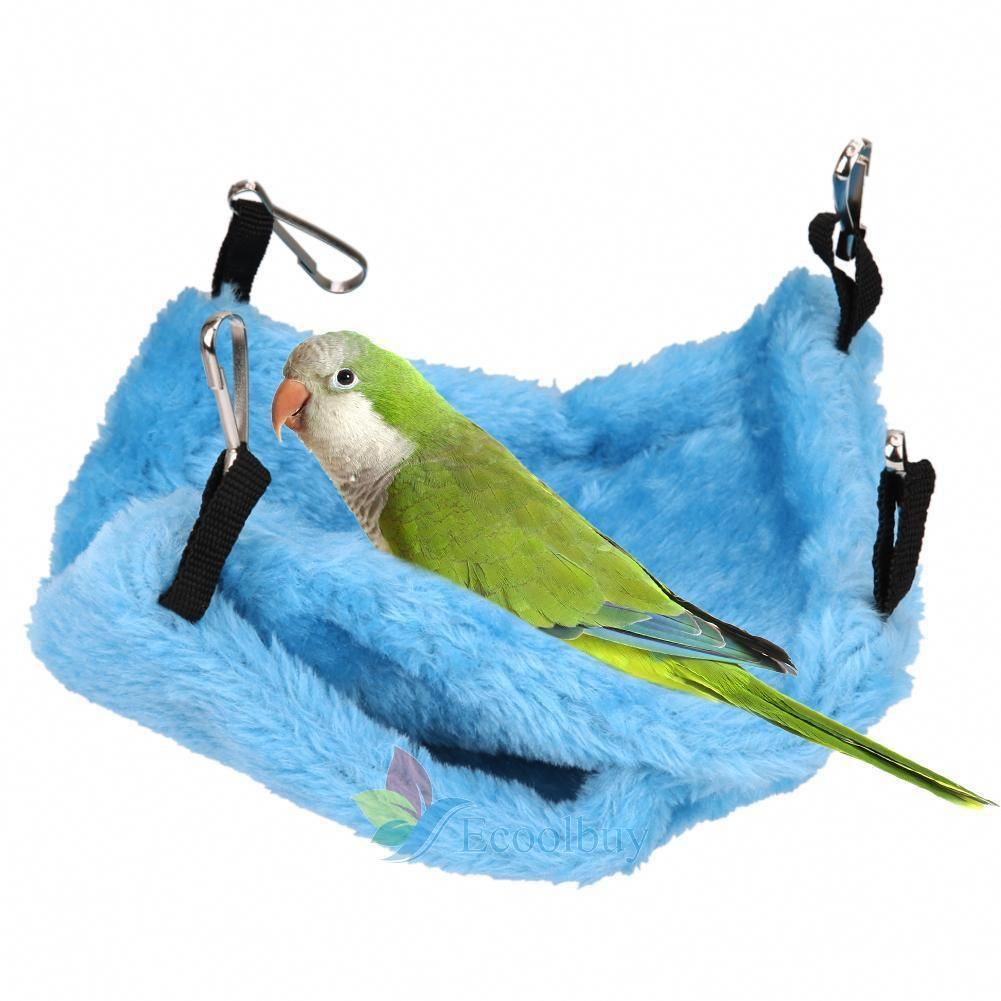 Home & Garden Bird Parrot Plush Hammock Cage Snuggle Happy Hut Tent Bed Bunk Toy Hanging Cave Bird Cages & Nests