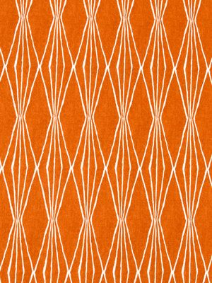 Tangerine Upholstery Fabric Modern Orange Fabric By The