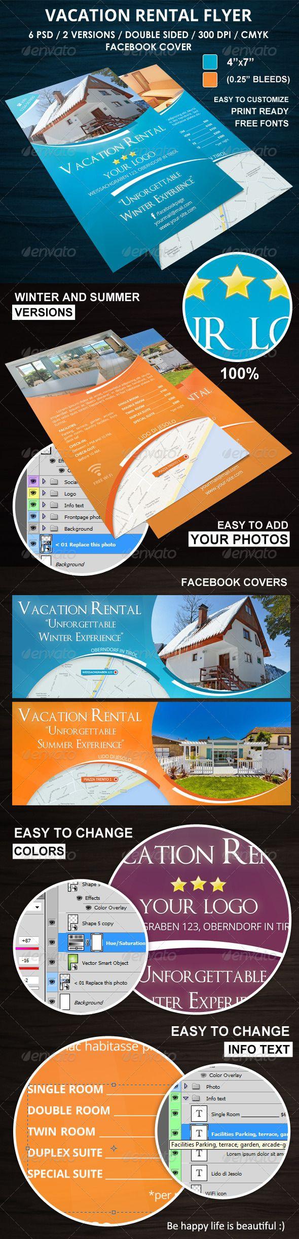 vacation rental flyer corporate flyers travel pinterest