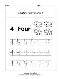 Free Number Tracing Worksheets | Tracing worksheets ...