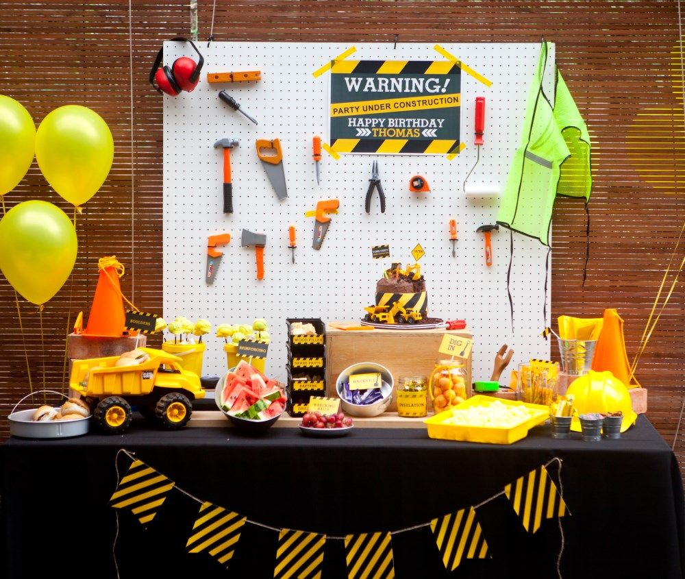 This Construction Party Is So Cute For A 4 Year Old But I Love As 1st Birthday Idea Too