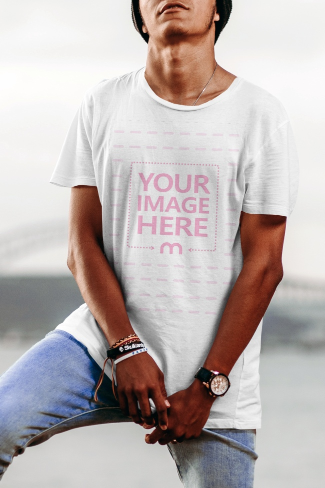 Get Your Swag On With This Mockup Template Of A Young Male Model