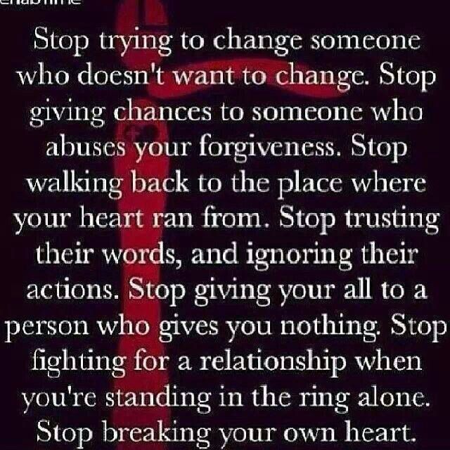 relationship on hold quotes about change